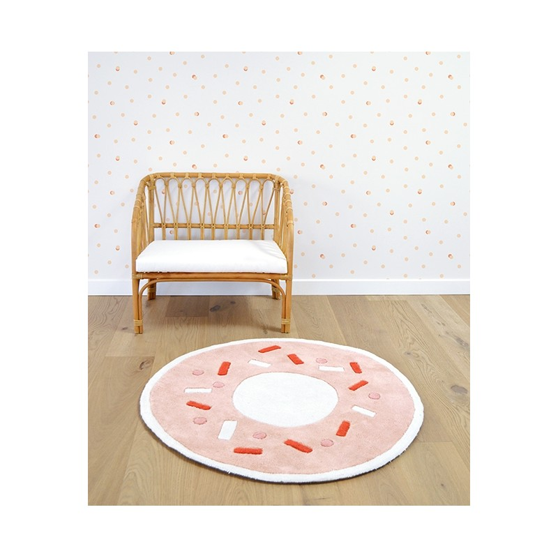 Tapis pour enfant forme donuts orange pastel lilipinso for Chambre orange pastel