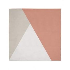 Papier peint enfant g om trique triangle noir et corail lilipinso for Papier peint geometrique triangles noir et blanc gris