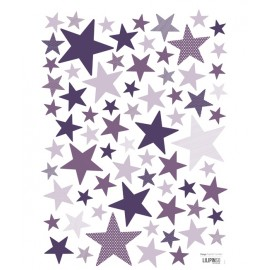 Stickers Etoiles violet My SuperStar pretty purple