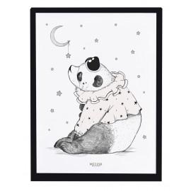 Affiche encadrée Panda et étoiles Lilipinso