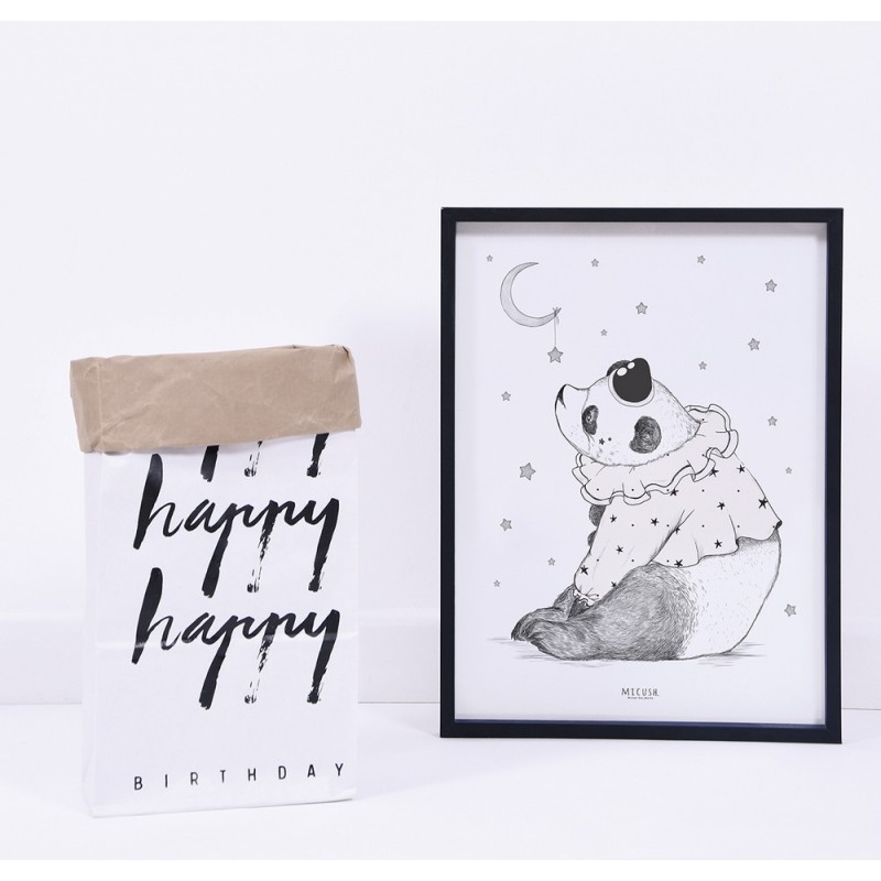 affiche chambre b b panda et toiles lilipinso. Black Bedroom Furniture Sets. Home Design Ideas