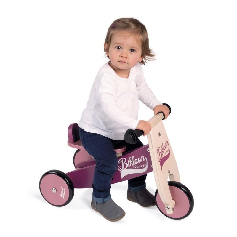 Porteur en bois Little Bikloon violet et rose Janod ~ Porteur En Bois Janod