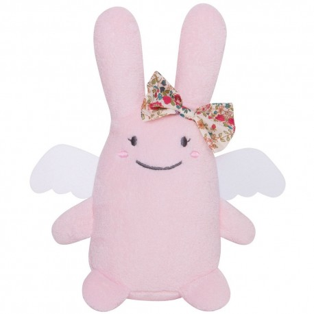 Peluche Ange Lapin Super Girl rose (44 cm) Trousselier