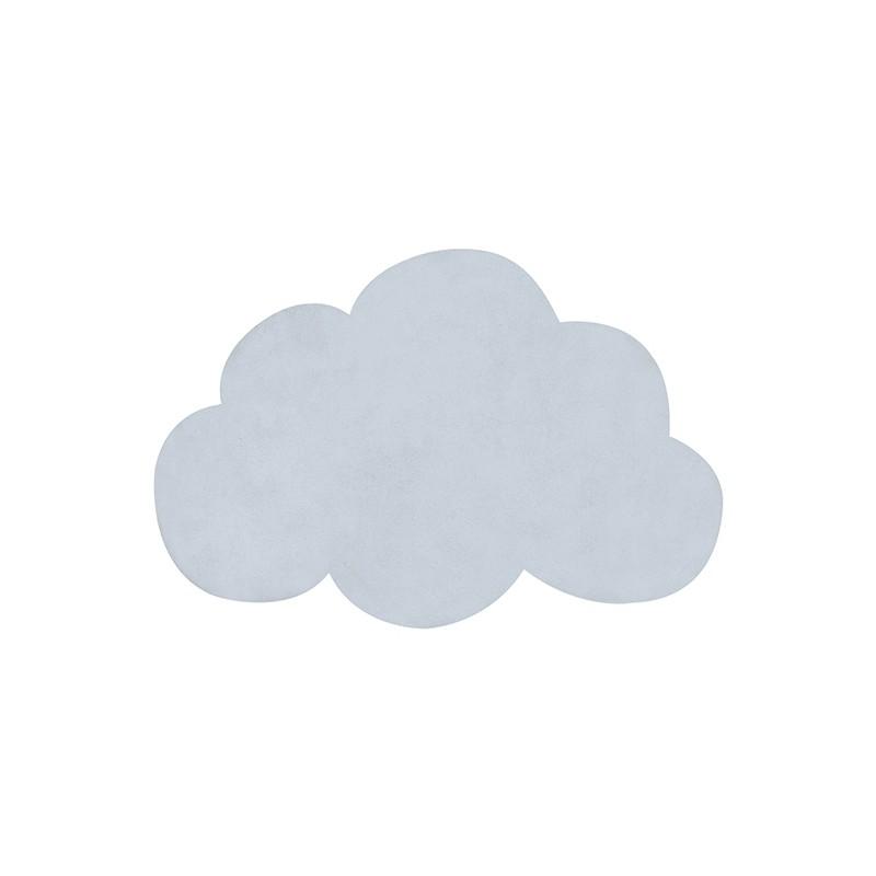 tapis pour chambre d 39 enfant nuage bleu clair lilipinso. Black Bedroom Furniture Sets. Home Design Ideas