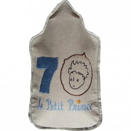 Bouillotte Le Petit Prince écru-bleu 70 ANS édition limitée