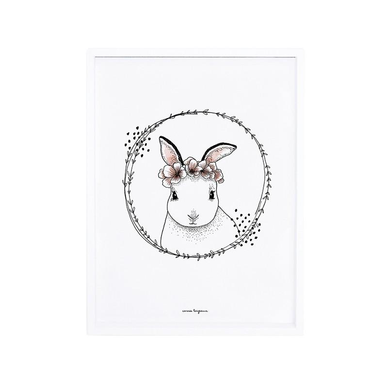 Affiche Lilipinso Lapin Et Fleurs