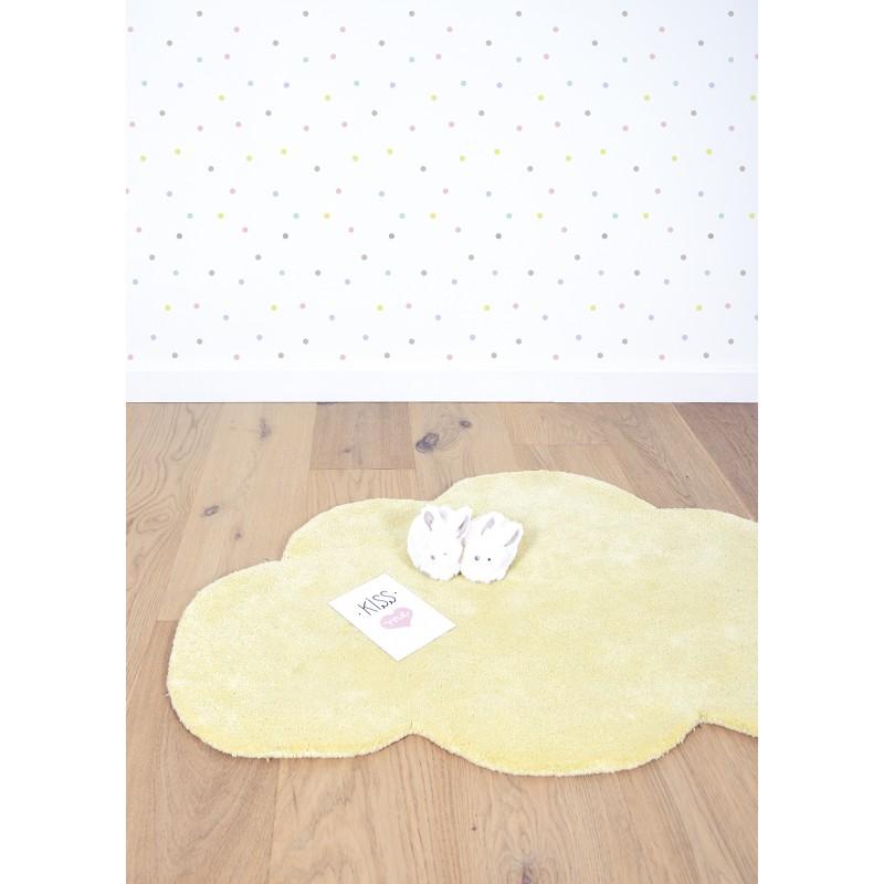 tapis chambre b233b233 nuage jaune pastel lilipinso