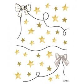 Sticker guirlande noeud et étoiles Lilipinso