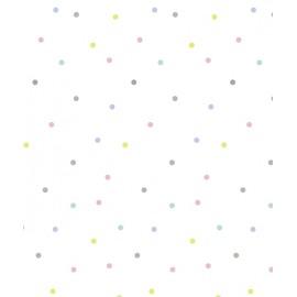 Papier peint à pois multicolores Lilipinso