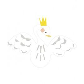 Sticker Cygne couronné Lilipinso