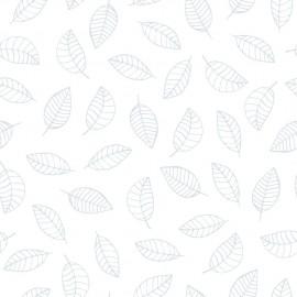 Papier peint feuilles bleues Lilipinso