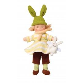 Poupée Bonnet Lapin Robe Jaune par Trousselier
