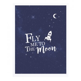 Affiche encadrée Fly me to the moon Lilipinso