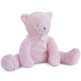 Peluche chat rose Doudou et Compagnie (35cm)