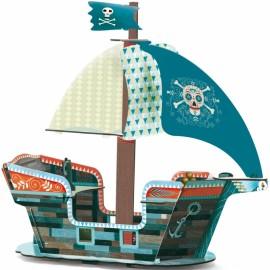 Bateau pirate à construire  3D Djeco
