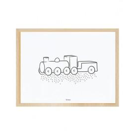 Affiche avec cadre locomotive Lilipinso