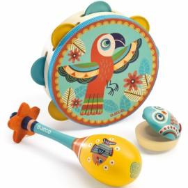 Set musical tambourin, maracas et castagnette Djeco