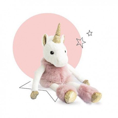peluche licorne girls glitter 25 cm histoire d 39 ours ho2765. Black Bedroom Furniture Sets. Home Design Ideas