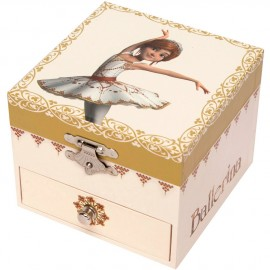 Boîte à bijoux musicale cube Ballerina Trousselier