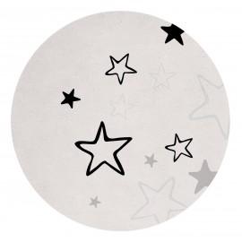 Tapis coton rond étoiles Lilipinso