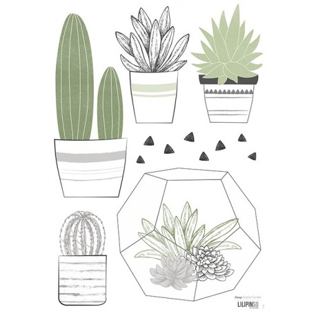 Stickers cactus en pots Lilipinso