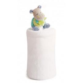 Plaid Hippo Lovely pistache Doudou et compagnie