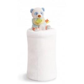 Plaid Panda Lovely pistache Doudou et compagnie