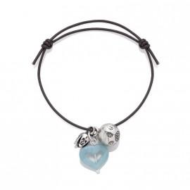 Bracelet Bola de Grossesse en Argent et Amazonite Estelon par Poup'ké
