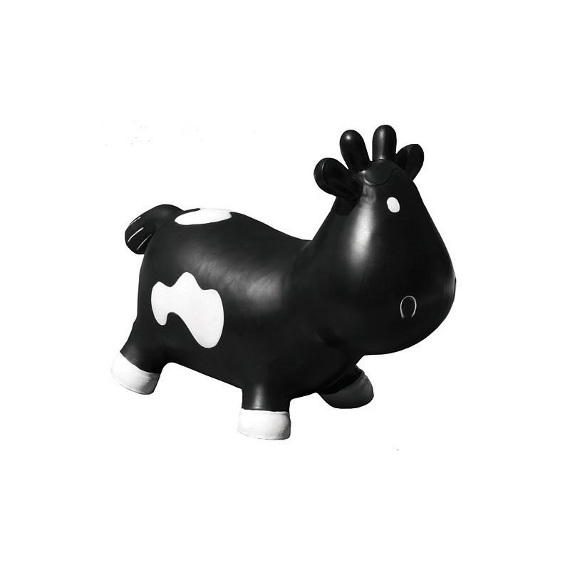 vache sauteuse betsy noire et blanche kidzzfarm. Black Bedroom Furniture Sets. Home Design Ideas