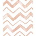 Papier peint chevrons corail  Lilipinso