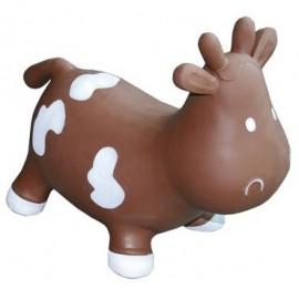 Betsy la Vache Sauteuse Marron et Blanc par Kidzzfarm