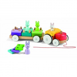 Tracteur lapins à traîner Janod.