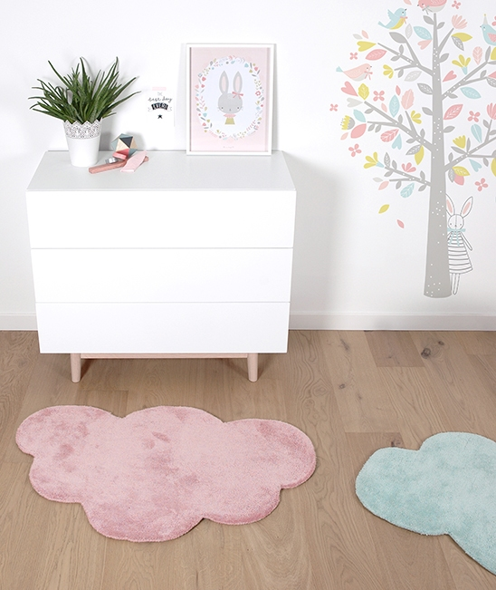Tapis chambre b b nuage rose clair lilipinso Tapis rose clair