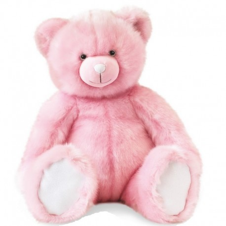 Ours collection Rose sorbet Doudou et Compagnie (60cm)