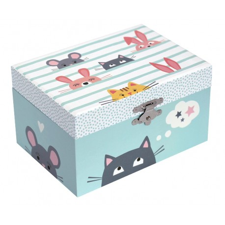 Coffret musical phosphorescent Chat Trousselier