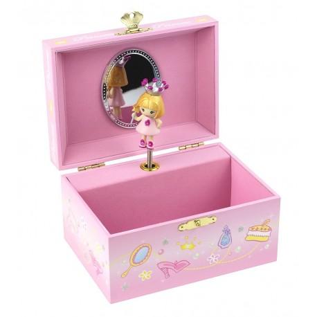 Boîte à bijoux musicale Princesse Rose Trousselier