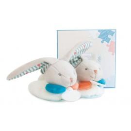 Chaussons lapin Happy avec hochet (6-12 mois) Doudou et Compagnie