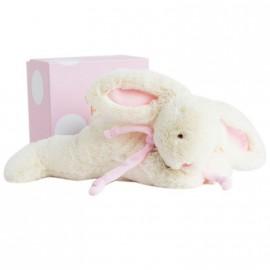 Peluche Lapin bonbon rose Grand modèle Doudou et Compagnie