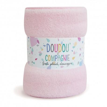 Plaid douceur rose Doudou et Compagnie
