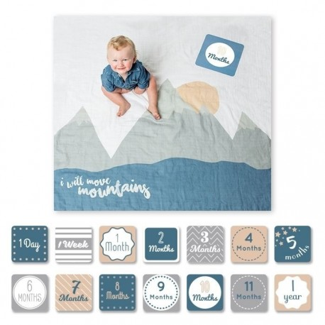 Cartes étape et maxi lange I will move mountains Lulujo