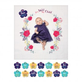 Cartes étape et maxi lange Stay wild my child Lulujo