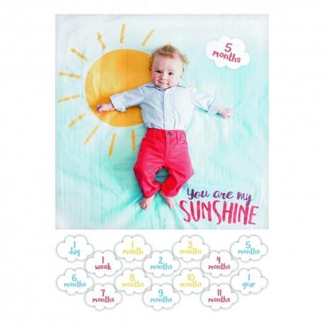 Cartes étape et maxi lange You are my sunshine Lulujo