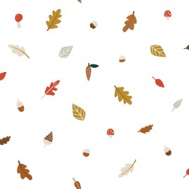 Papier peint feuilles d'automne éparses Lilipinso
