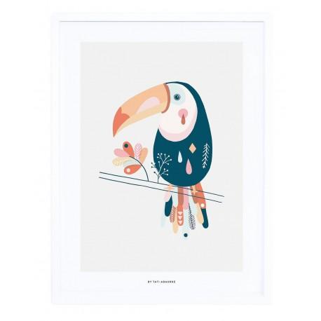 Affiche encadrée Toucan Lilipinso