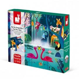 Puzzle Surprise Festin dans la Jungle 20 pcs Janod