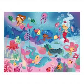 Puzzle Sirènes en valisette Janod (24 pcs)