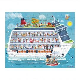 2 puzzles bateau de croisière Janod