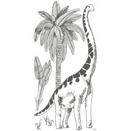 Sticker géant Brontosaure et palmiers Lilipinso (130 x 63 cm)