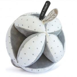 Balle sensorielle grise avec hochet Doudou & Compagnie