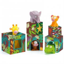 jeu de cubes Maxi Topanijungle Djeco